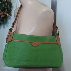 Pea Green Fossil Shoulder Bag